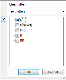 Excel Like Filtering