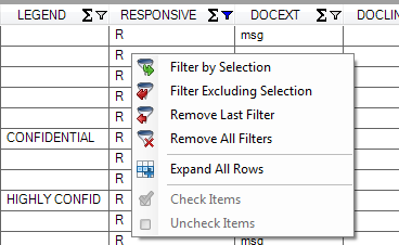 Grid Right-Click Menu